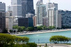 Chicago by the lake Royalty Free Stock Photos