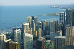 Chicago Lake Front. Properties - Lake Front Downtown Area. Chicago, IL, USA. American Cities Collection. Lake Michigan Stock Image