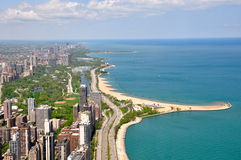 chicago lake michigan royaltyfri foto