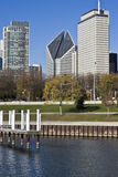 Chicago from the Lake Michigan Royalty Free Stock Photos