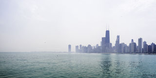 Chicago and Lake Michigan Stock Image