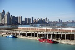 Chicago Lake Michigan Pier Royalty Free Stock Photography