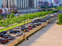 Chicago Lake Shore Drive Traffic Royalty Free Stock Photos