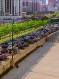 Chicago Lake Shore Drive Traffic Stock Photo