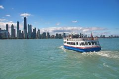 Chicago from the lake Stock Image
