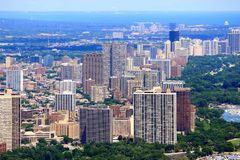 Chicago Lake View. Neighborhood - city aerial view Royalty Free Stock Photography