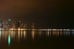 Chicago Lakefront at Night Royalty Free Stock Images