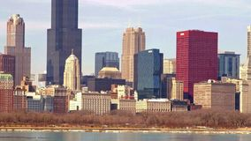 Chicago lakefront skyline stock video footage