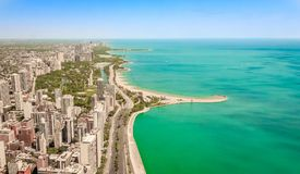 Chicago Lakeside royaltyfri fotografi