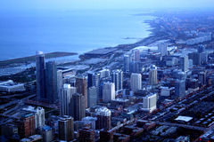 Chicago landscape. From sky deck Willis Tower stock images
