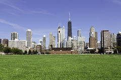 Chicago in late afternoon stock photography