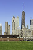 Chicago in late afternoon royalty free stock photo