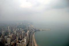 Chicago - lato nord un giorno nebbioso Immagini Stock Libere da Diritti