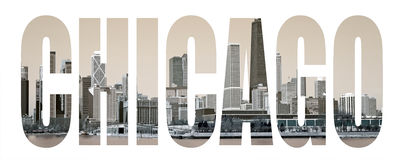 Chicago Letters Stock Photo