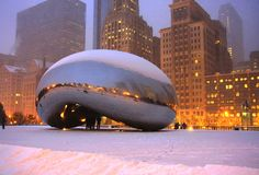 Chicago-Lichter stockbild