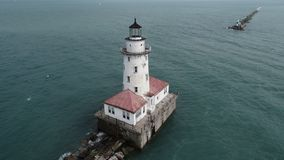 Chicago Harbor Lighthouse stock image