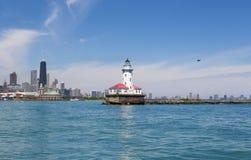 Chicago lighthouse Stock Image