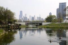 chicago lincoln park Arkivbild