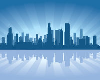 chicago linia horyzontu ilustracja wektor