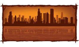 chicago linia horyzontu ilustracji