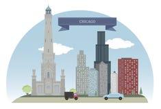 Chicago, los E stock de ilustración