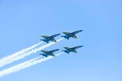 Chicago luft- och vattenshow, marinblåa änglar för USA Arkivfoton