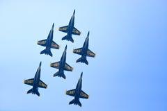 Chicago luft- och vattenshow, marinblåa änglar för USA Arkivbilder