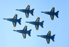 Chicago luft- och vattenshow, marinblåa änglar för USA Royaltyfria Foton