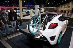 Hyundai przy Chicagowskim Auto przedstawieniem zdjęcia royalty free