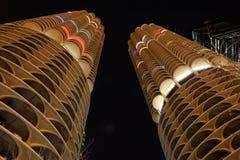 De Stad van de jachthaven complex bij nacht Royalty-vrije Stock Afbeelding