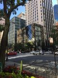 Chicago magnificent mile Burberry store Royalty Free Stock Photography