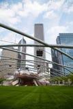 Jay Pritzker pawilon w milenium parku w Chicago Zdjęcia Royalty Free