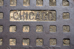 Chicago Manhole Cover Royalty Free Stock Photography