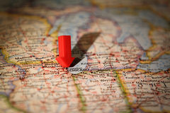 Chicago map Royalty Free Stock Photography