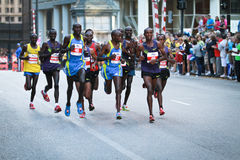 Chicago Marathon - Leaders pack Royalty Free Stock Photo