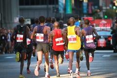 Chicago Marathon - Leaders pack royalty free stock photo