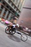 Chicago Marathon - Motion blur stock image