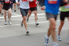 Chicago Marathon Runners. Marathon runners in downtown Chicago Stock Photography