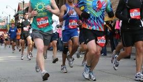 chicago maraton Fotografering för Bildbyråer