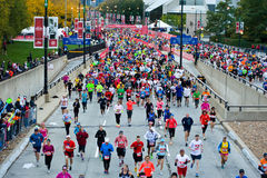 Chicago maraton Royaltyfria Bilder