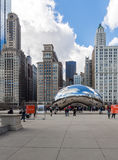 CHICAGO - MARCH 17: Cloud Gate in Millennium Park on March 17, 2 Stock Photos