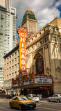 CHICAGO - MARCH 22: The famous Chicago Theater on State Street o Royalty Free Stock Images