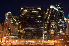 Nuveen Investments at night Stock Image