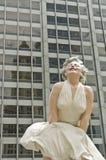 chicago marilyn monroe staty Arkivfoto