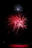 Chicago marin Pier Fireworks Royaltyfria Foton