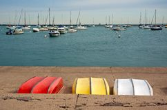 Chicago marina. Marina in Chicago. View from the promenade Stock Photography