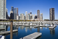 Chicago from marina Royalty Free Stock Images