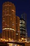 chicago marina towers στοκ εικόνες