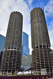 Chicago Marina Twin Towers Royalty Free Stock Photo
