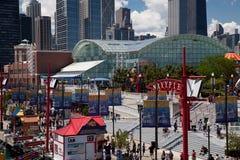 Chicago-Marine-Pier am sonnigen Tag Lizenzfreie Stockbilder